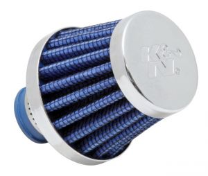 K&N Blue 2 inch Base OD Rubber Base Crankcase Vent Filter