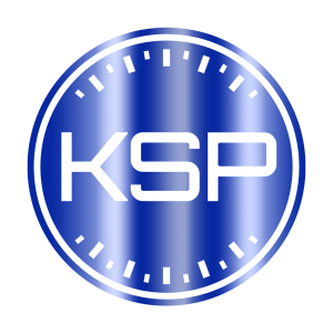 K Series Parts Blue Holographic Logo Sticker