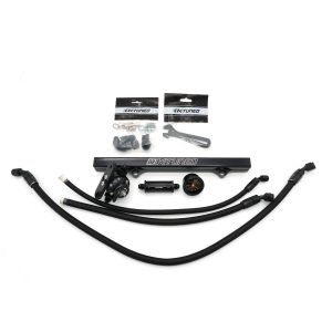 K-Tuned 6AN Center Feed Fuel System w/ Black Fuel Rail