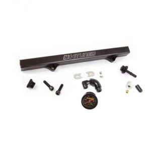 K-Tuned Black Fuel Rail w/ EFI Fittings, IAA Delete, Center Gauge