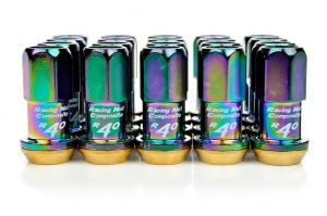 Project Kics R40 Neo Chrome Composite Lug Nuts M12 x 1.5