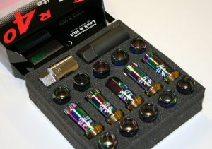 Project Kics Racing Composite R40 Neo Chrome Lug Nuts M12 x 1.5