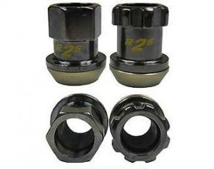 Project Kics Racing Composite R26 Black Chrome Lug Nuts M12 x 1.5