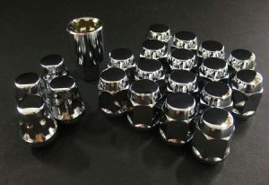 Project Kics Bull Lock Chrome Lug Nuts and Locks M12 x 1.5