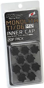 Project Kics Black M12 Monolith Cap Set (20 Pack)