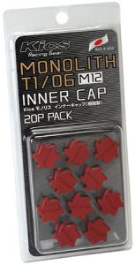 Project Kics Red M12 Monolith Cap Set (20 Pack)