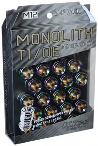 Project Kics M12x1.5 Neochrome T1/06 Monolith Lug Nuts (20 Pack)