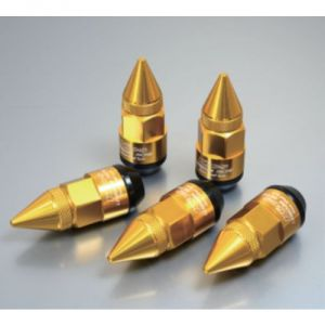 Project Kics Leggdura Racing Dangan Gold Lug Nuts: 20 Pack M12 x 1.25