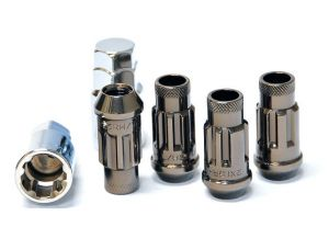 Muteki SR48 Titanium M12x1.5 Open Ended Wheel Locks: 4 Pack