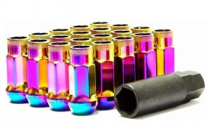 Muteki SR48 Neochrome M12x1.5 Open Ended Lug Nuts: 20 Pack