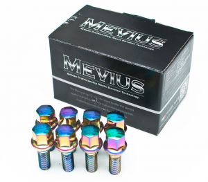 Mevius Chrome 50mm Lug Bolts 20 Pack M12 x 1.5