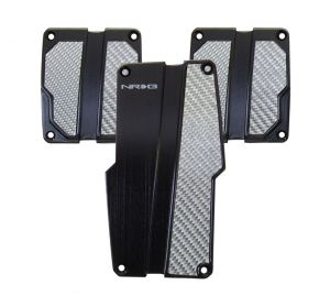 NRG Silver and Black Aluminum Sport Pedals Manual Transmission