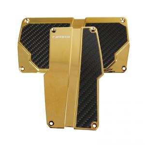 NRG Gold with Black Carbon Fiber Aluminum Automatic Sport Pedals