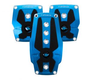 NRG Blue Pad Cover Plate Racing Pedals Manual