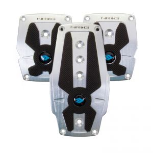NRG Silver Pad Cover Plate Racing Pedals Manual