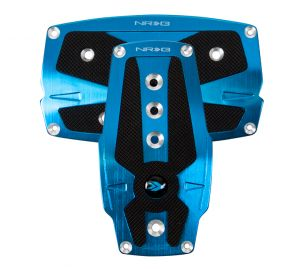 NRG Blue Pad Cover Plate Racing Pedals Automatic