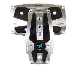 NRG Silver Pad Cover Plate Racing Pedals Automatic