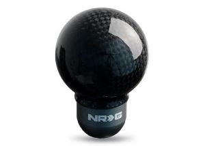 NRG Carbon Fiber Semi Ball Style Shift Knob Universal
