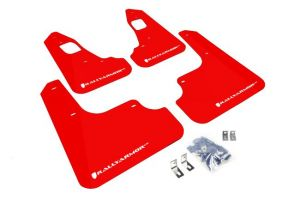Rally Armor 08-15 Evolution White Logo Red UR Mud Flaps