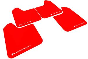 Rally Armor Universal UR Mud Flaps Red w/ White Logo