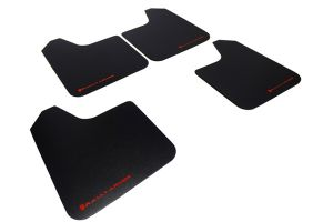 Rally Armor Universal MSpec Mud Flaps Black w/ Red Logo