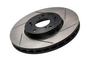 StopTech 02-06 RSX Base Front Left Slotted Brake Rotor