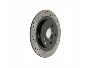 StopTech 02-06 RSX Rear Right Drilled and Slotted Brake Rotor