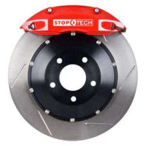 StopTech Front Big Brake Kit: Red Caliper and Slotted Rotor