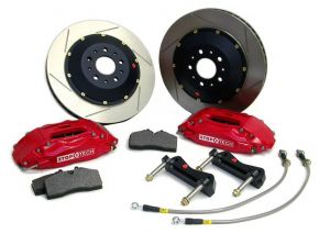 StopTech 06-09 S2000 ST-40 Front Big Brake Kit: Red Caliper