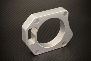 Torque Solution 06-11 Civic Si Throttle Body Spacer: 70mm - Silver