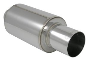 "Vibrant Polished 3"" TPV Turbo Universal Muffler"