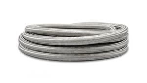 Vibrant -4 AN Stainless Steel Braided Flex Hose 2 Foot Roll