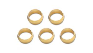 Vibrant Performance Brass Olive Inserts 3/8'' Pack Of 5