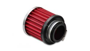 Vibrant Crankcase Breather Filter W/ Chrome Cap: 1.25''  I.D.