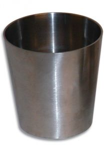 "Vibrant Stainless Steel Straight Reducer: 3"" to 2-1/2"""