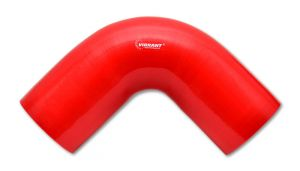 Vibrant Red 4 Ply ReInforced Silicone Coupler 90 Degree Elbow 1.75 I.D. x 4