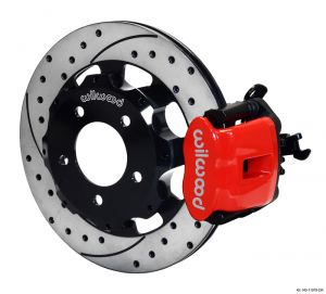Wilwood 06-15 Civic Rear Big Brake Kit: Red Caliper and Drilled Rotor