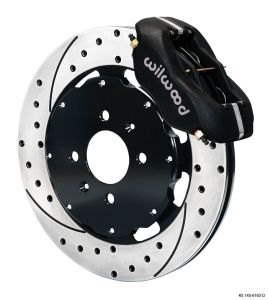 Wilwood 90-01 Integra 4 Piston Dynalite Front BBK: Black Caliper/Drilled Rotor