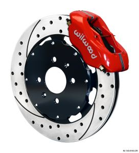Wilwood 00-01 Integra 4 Piston Dynalite Front BBK: Red Caliper/Drilled Rotor