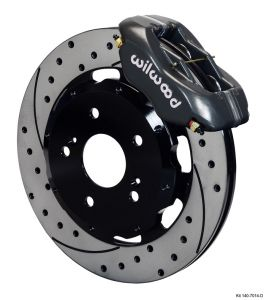 Wilwood 02-06 RSX 4 Piston Dynalite Front BBK: Black Caliper/Drilled Rotor